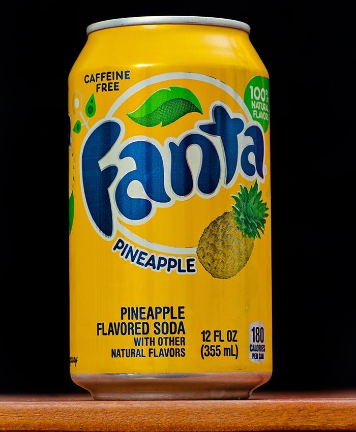 Fanta Pineapple Soda can