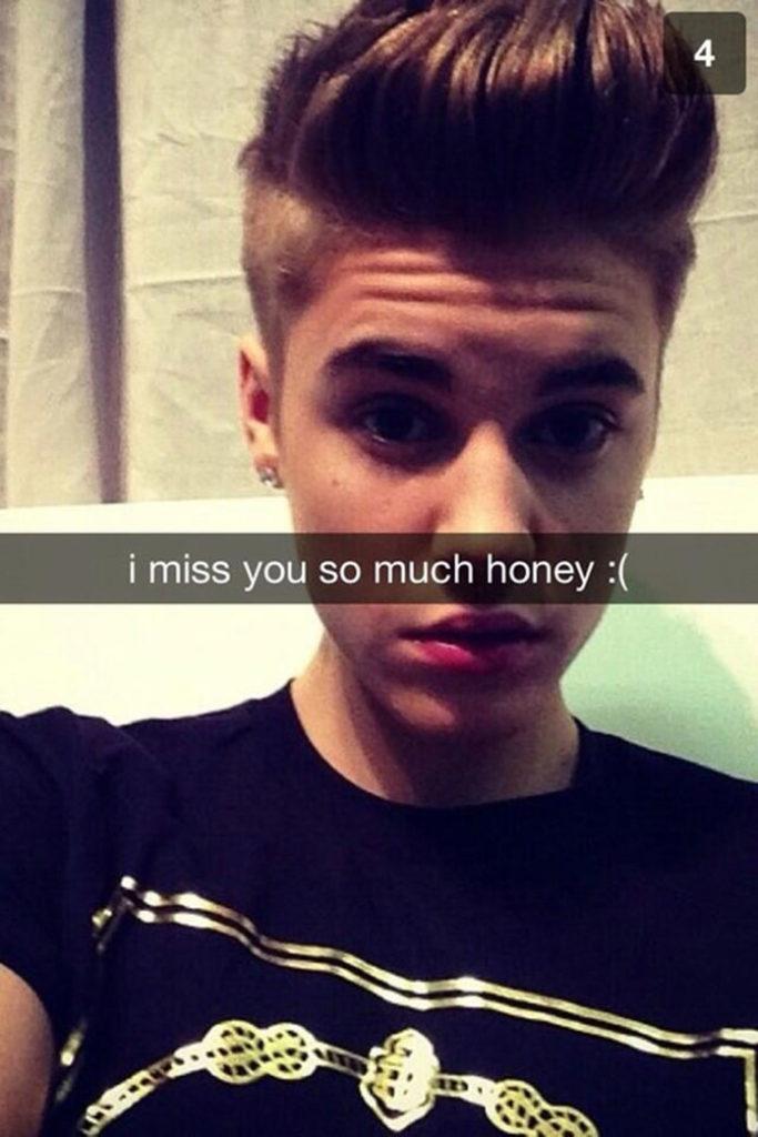 Justin Beiber Snapchat