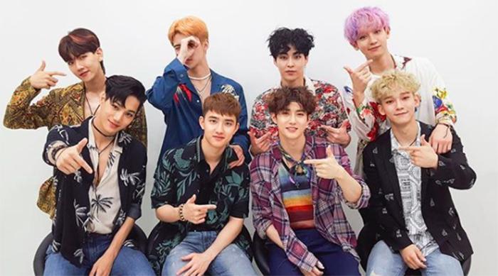 Members of K-pop group EXO