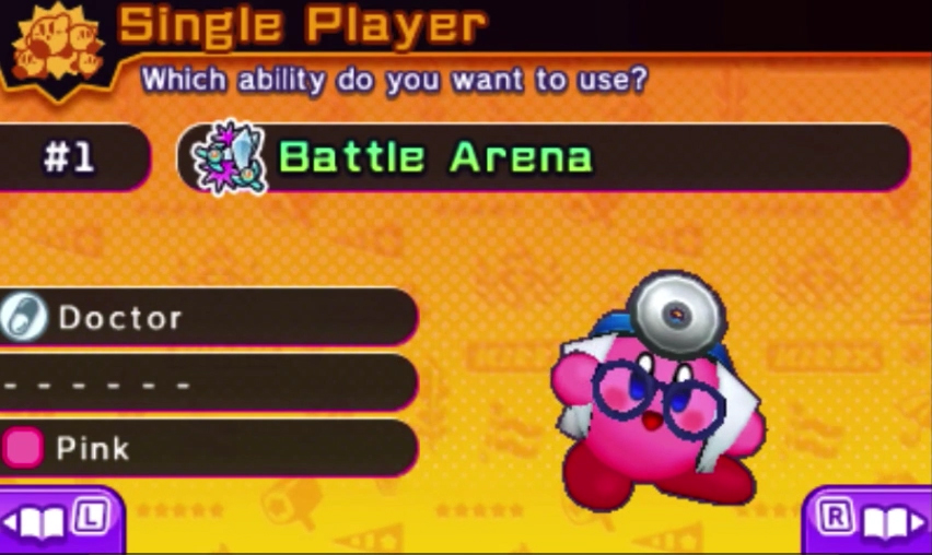 Kirby Battle Royale ability doctor