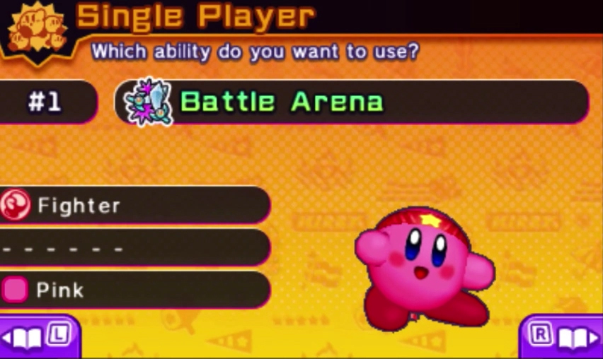 Kirby Battle Royale ability fighter