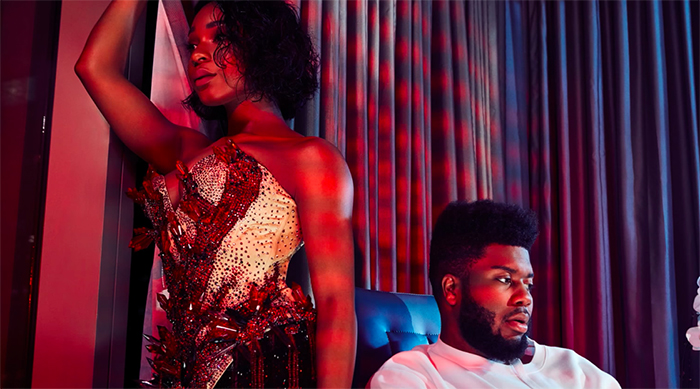 """Single artwork for Normani Kordei and Khalid's collaboration """"Love Lies"""" from the movie """"Love, Simon"""""""