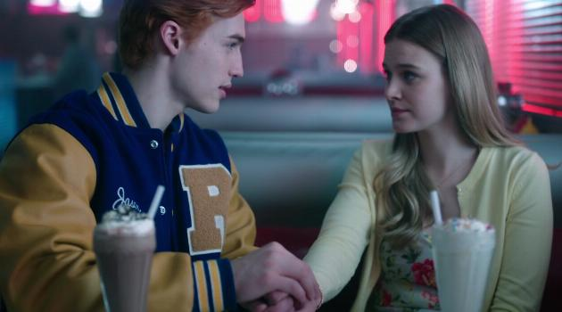 Jason and Polly at Pop's on Riverdale