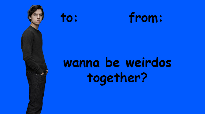 Jughead Jones Valentine's Day card