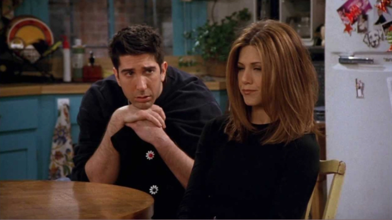 Ross From Friends Staring at Rachel