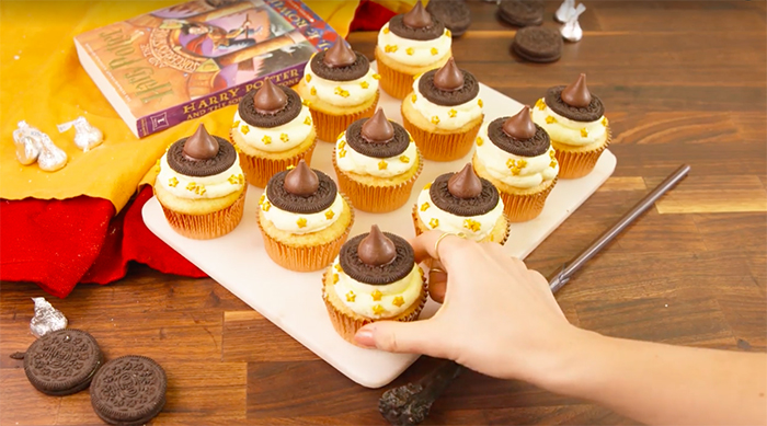 Sorting Hat cupcakes recipe from Delish