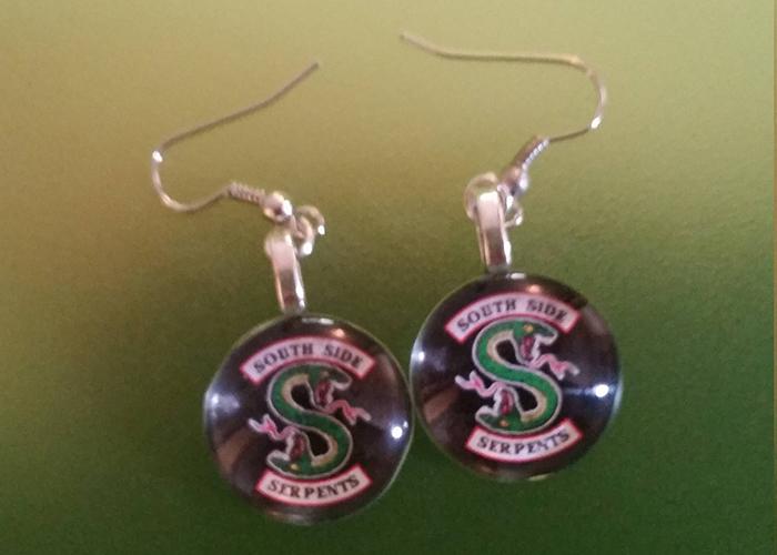 Southside Serpents earrings from Etsy
