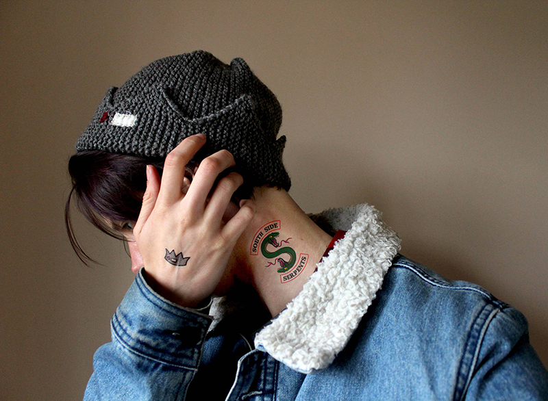 Southside Serpents temporary tattoos from Etsy