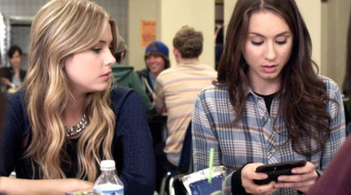 Spencer Texting While Hannah Watches