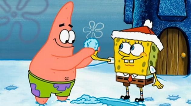 SpongeBob SquarePants: SpongeBob and Patrick roll a snowball