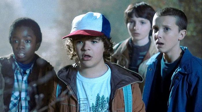 Stranger Things: Lucas, Dustin, Mike and Eleven
