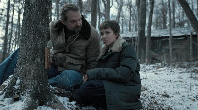 Stranger Things: Hopper and Eleven in the snow