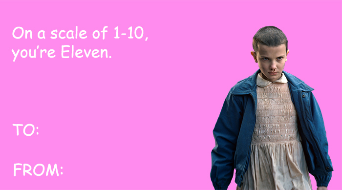Stranger Things Eleven Valentine
