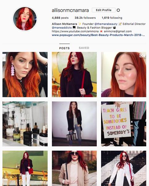 Allison McNamara Instagram Bio