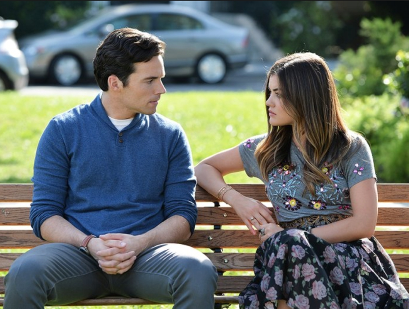 Aria and Ezra on a Bench