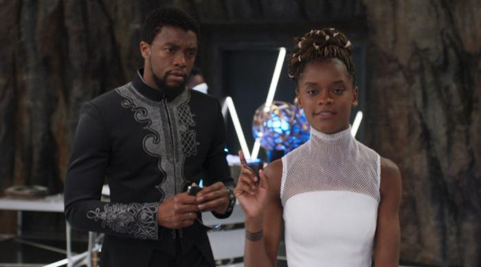 Shuri and T'Challa in Shuri's lab in Black Panther