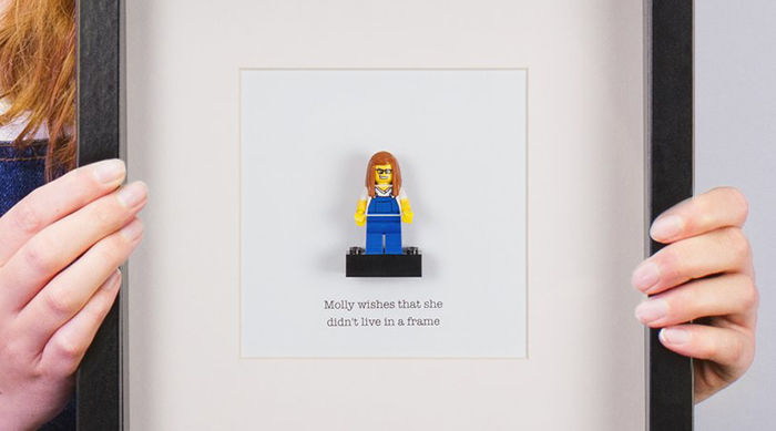 Brick Yourself: Lego girl figure in frame
