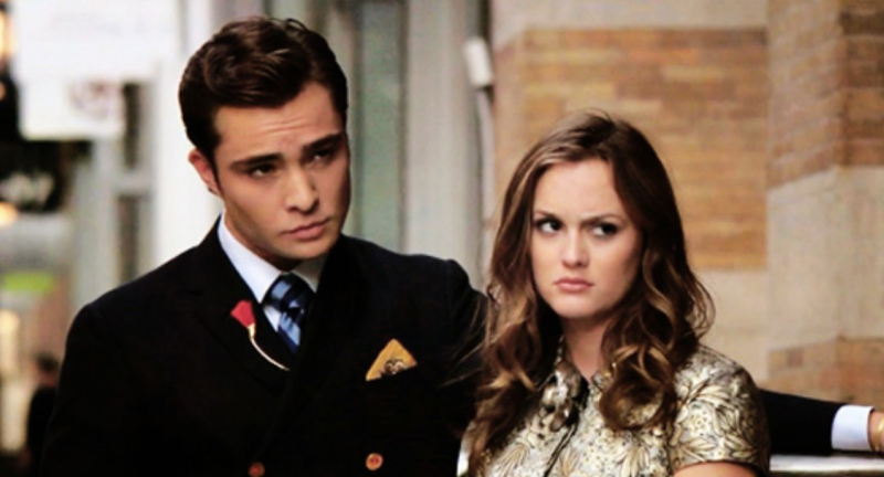 Chuck and Blair Glaring