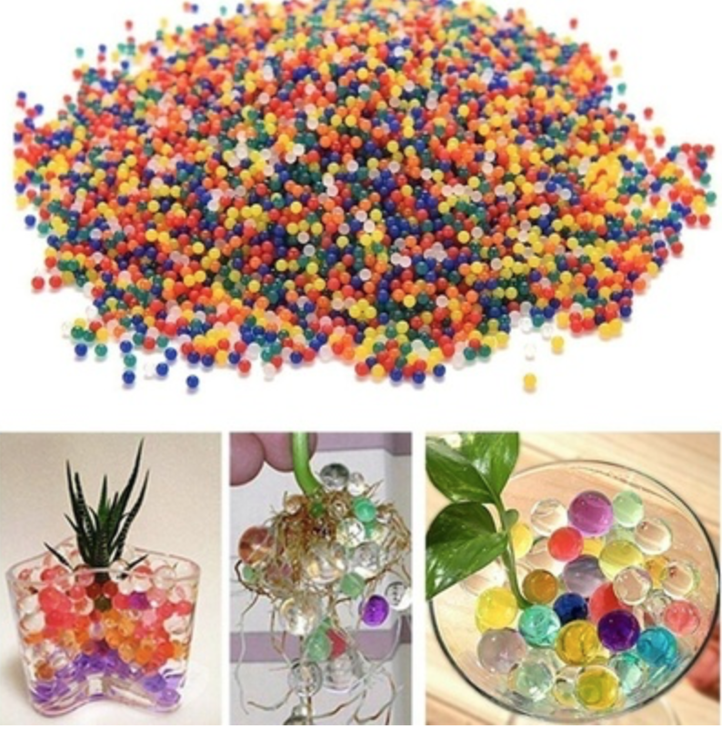 Crystal mud soil beads