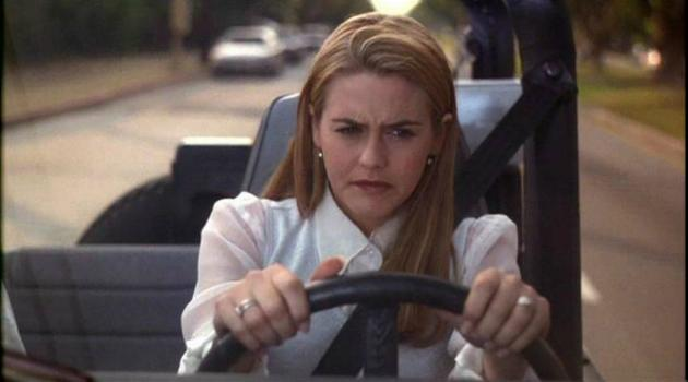 Cher driving in Clueless