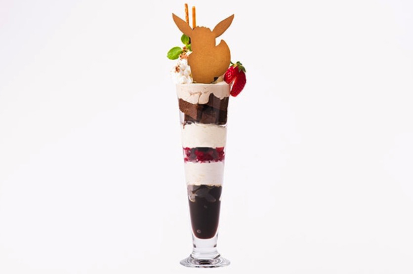 Pokémon Cafe Eevee chocolate parfait