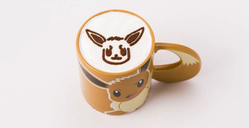 Pokémon Cafe Eevee latte