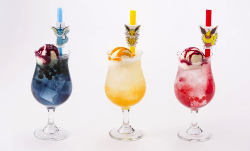Pokémon Cafe Eeveelution floats