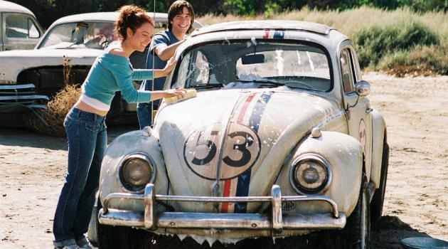Lindsay Lohan washing a car in Herbie: Fully Loaded
