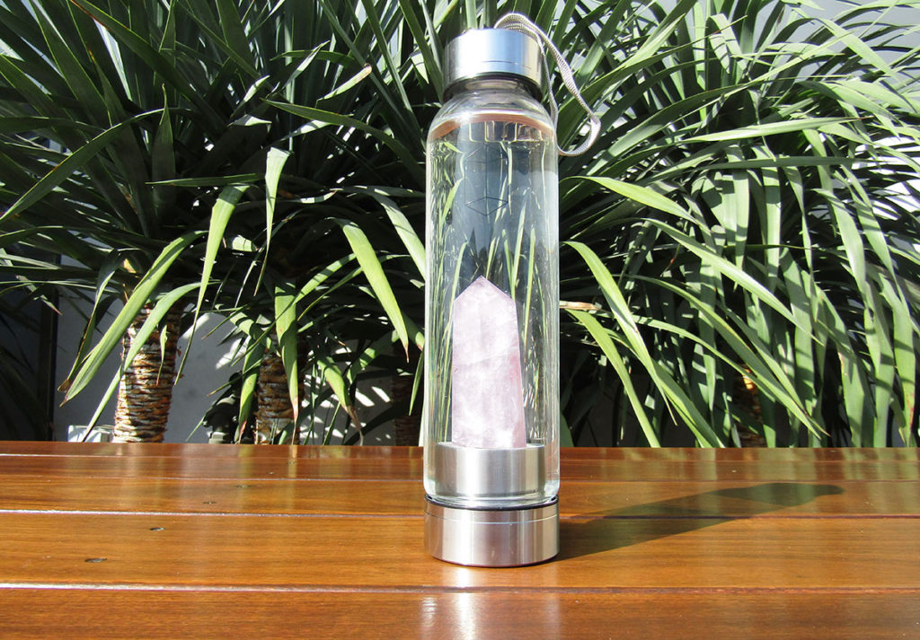 3aa7fe9115 We Tried a Crystal-Infused Rose Quartz Glacce Water Bottle
