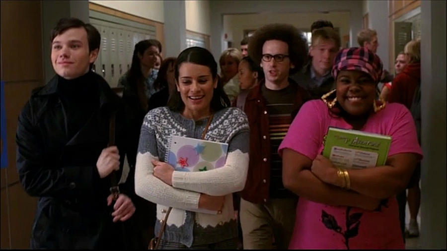Glee friends excited