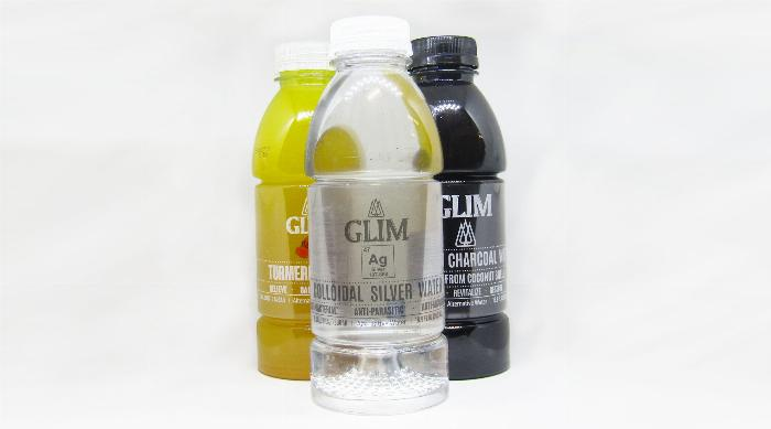 Glim Water: Turmeric Water, Colloidal Silver Water and Activated Charcoal Water