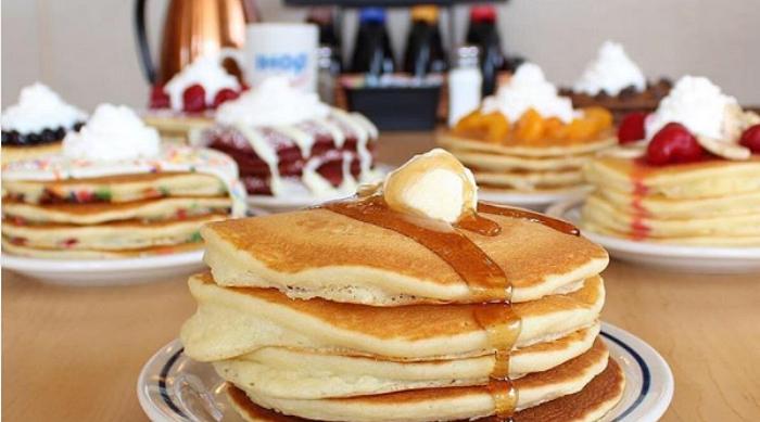 IHOP pancakes spread