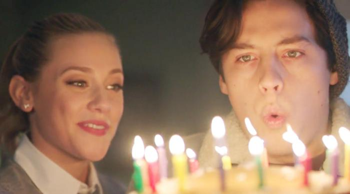 Riverdale: Jughead blowing out birthday cake