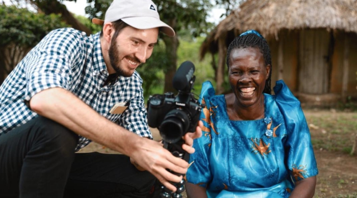 Charity: Water Camera Man and Woman