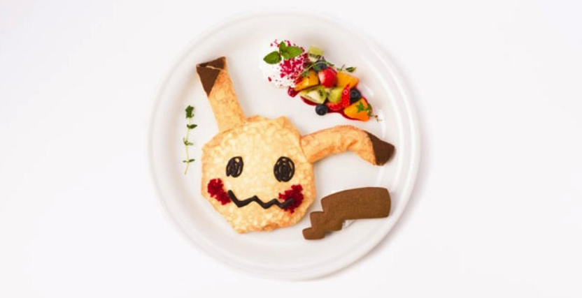 Pokémon Cafe Mimikyu chocolate banana crepe