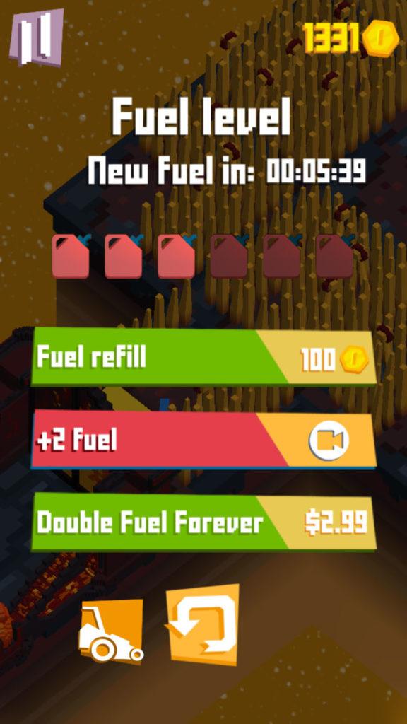 Mowy lawn fuel refill