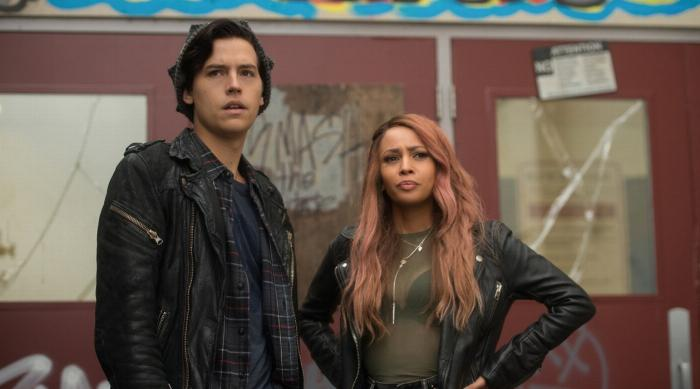 Toni and Jughead at Southside High on Riverdale