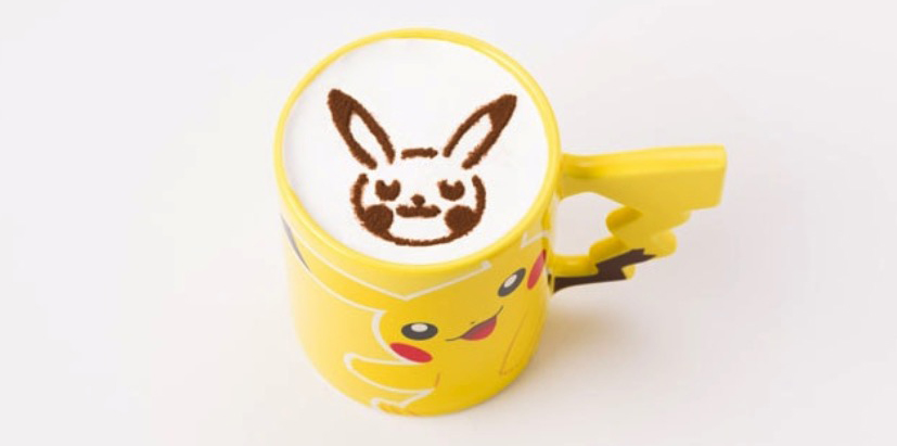 Pokémon Cafe Pikachu latte