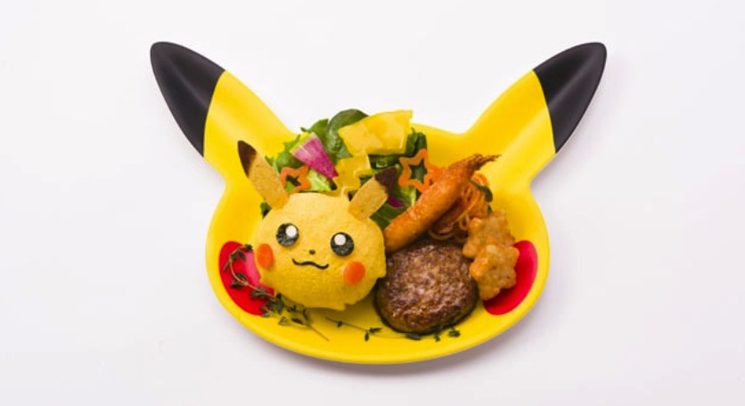 Pokémon Cafe meal plate