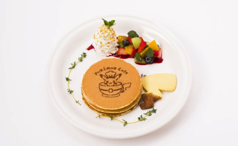 Pokémon Cafe Pancakes with fruit