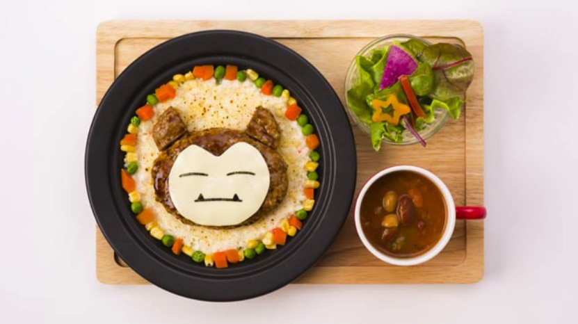 Pokémon Cafe Snorlax hamburg and rice