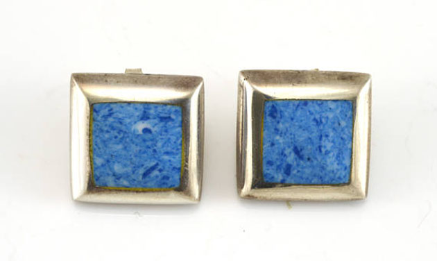 Sodalite square stud earrings