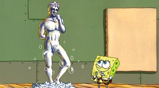 SpongeBob SquarePants: SpongeBob's statue of David