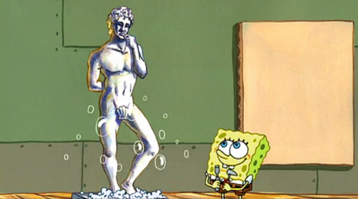 SpongeBob SquarePants: SpongeBob's statue of David