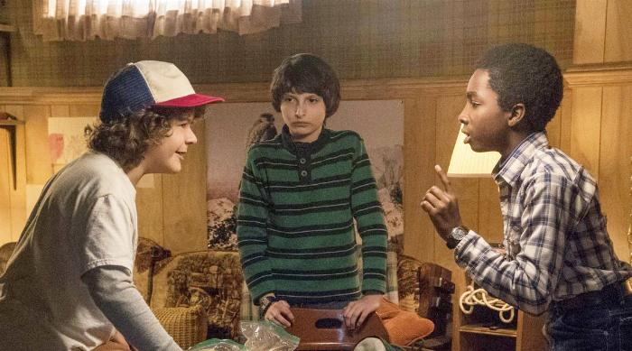 Stranger Things: Dustin, Mike and Lucas playing dungeons and dragons