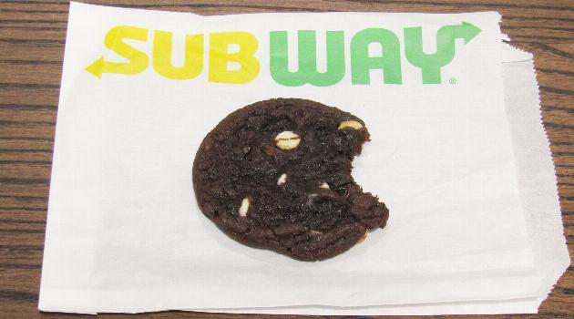 Subway double chocolate cookie