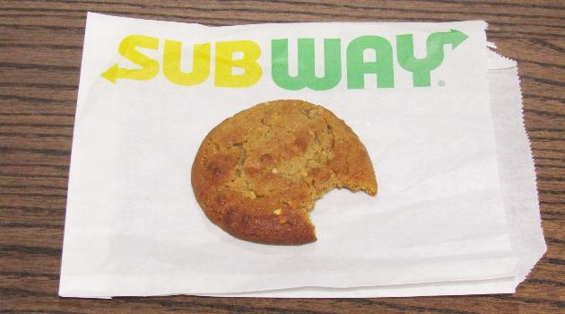 Subway peanut butter cookie
