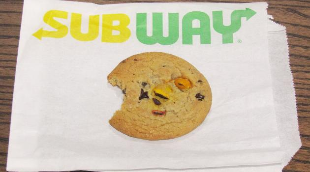 Subway Rainbow Gem cookie