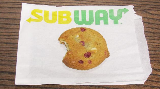 Subway raspberry cheesecake cookie