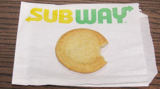 Subway sugar cookie